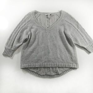 American rag Gray Sweater Size Large Mohair Blend